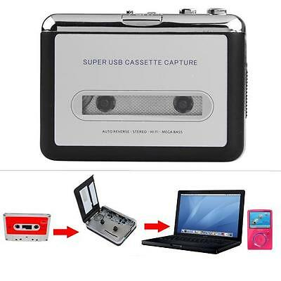 Cassette Tape to USB MP3 Converter Audio Adapter Music Player with USB Cable New