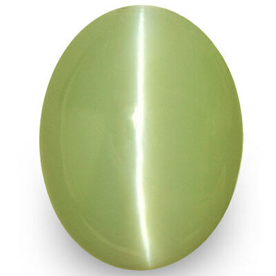 8.30-Carat IGI-Certified Natural Chrysoberyl Cat's Eye with Strong Chatoyance