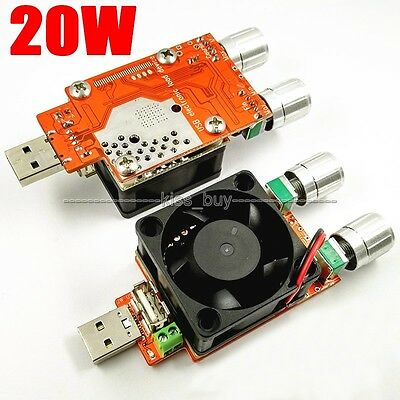 3A 20W USB Adjustable Constant Current Electronic Load Battery Capacity Tester