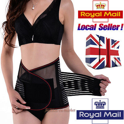 UK Breathable Lower Back Support Double Pull Strap Lumbar Brace Belt Pain Relief