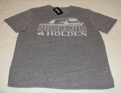 Holden Sandman Mens Grey Marle Printed Short Sleeve T Shirt Size 3XL New