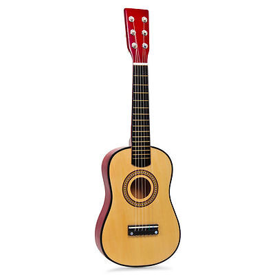 Childrens Kids Wooden Acoustic Guitar Musical Toy Instrument 6 Metal Strings