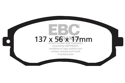 TOYOTA GT86 EBC Greenstuff Front and Rear Brake Pads 2.0 2012-