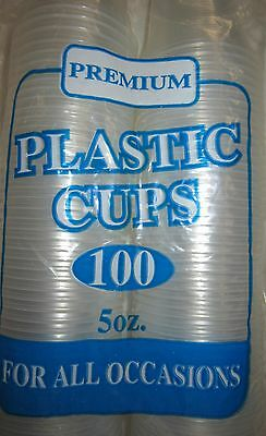 Premium 100 Disposable Clear Plastic 5 oz Cups 8697781932037
