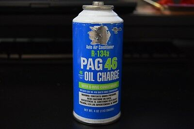 NEW Auto Air Conditioner R-134a PAG 46 Oil Charge 4oz. Refirgerant Re-charge