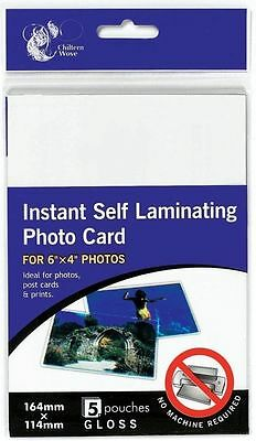 5 Instant Self Laminating Photo Card Pouches/sheets Gloss 6X4'' Photos Postcard