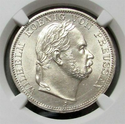 1866 A Silver Germany Prussia Taler Victory Coin Ngc Mint State 62