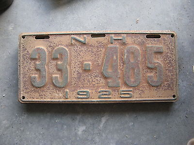 1925 25 New Hampshire Nh License Plate Nice Tag Decoration Sweet 33 485