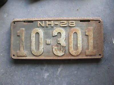 1928 28 New Hampshire Nh License Plate Nice Tag Decoration Sweet 10 301
