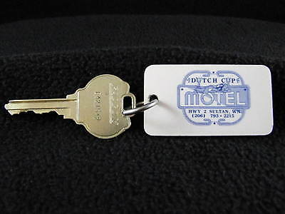 Vintage DUTCH CUP MOTEL SULTAN WN Room 36 Hotel Motel Fob & Key