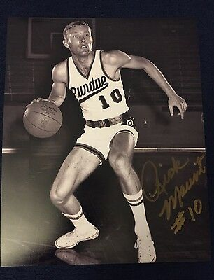 Rick Mount Signed 8 X 10 Photo Purdue Lebanon High School Indiana Pacers