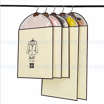High quality Non-woven Dust Cover Suit Hang Bag Dust Bag Hanging Garment Bags