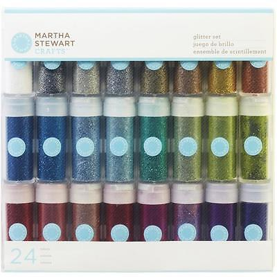 Vivid Fine Glitter Set 24 Colours Martha Stewart 40-34067