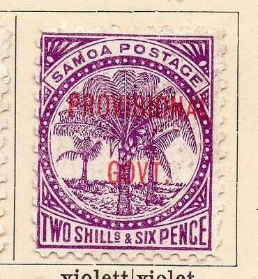 Samoa 1899 Early Issue Fine Mint Hinged 2S.6d. Optd 060694