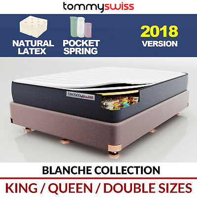 TOMMY SWISS: NEW MATTRESS King Queen Double & Single Pocket Spring Natural Latex