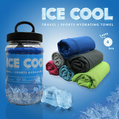 Instant Ice Cool Chill Towel Summer Cool Sports Active Cooling Shake to Activate