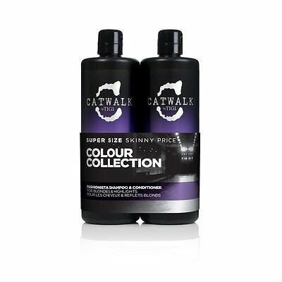 TIGI Catwalk Fashionista Violet Shampoo & Conditioner 750ml Tween