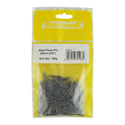 Steel Panel Pin Pins Nails Various Different Sizes 120 Grams Great Value!