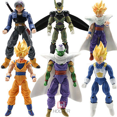 Anime 6pcs Dragonball Z Dragon Ball DBZ Goku Piccolo Action Figure Kids Toy Set