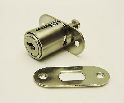 Kenstan PL40 Plunger Lock Nickel Plated Keyed Alike, Key Code 230 PLD40T3SNNNYN*