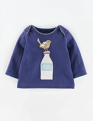 Baby & Girls NEW Ex store Mini Boden Applique Patchwork T-Shirt Top 0-18m