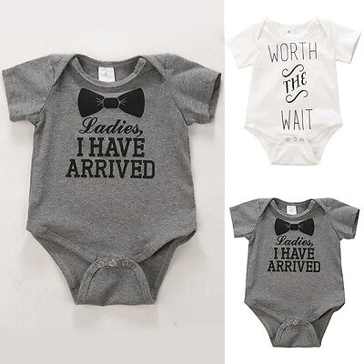 Newborn Baby Boy Girl Rompers Bodysuit Infant Kids Jumpsuit Clothes Outfit 0-12M