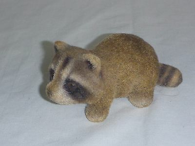 Vtg Josef Originals Flocked Raccoon Figurine Kitschy Japan