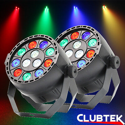 2 x Equinox MicroPar RGBW LED Stage Disco Parcan Lighting Effect