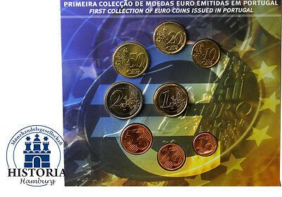 Portugal 3,88 Euro 2002 Stgl. KMS 1 Cent bis 2 Euro im Folder