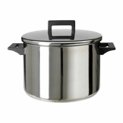 IKEA SNITSIG Pot with lid, stainless steel stockpot 3l, 5l, 8.5l