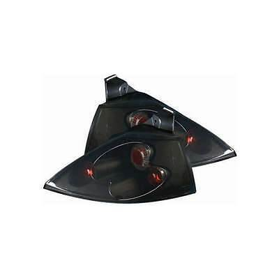 Renault Megane Mk2 2002-2006 Hatchback Black Lexus Style Rear Tail Lights Pair