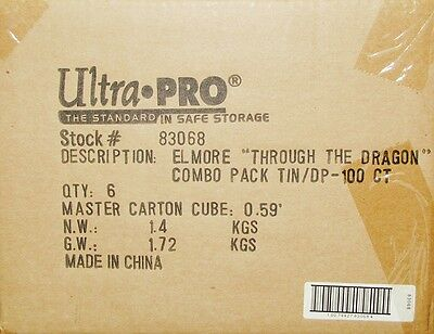 Closeout - 600 Ultra-Pro Elmore Magic Sleeves And 6 Deck Vaults W/dragons Mtg