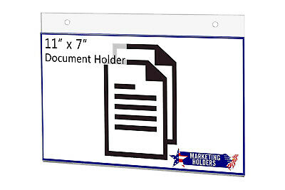"Sign Holder Ad Frame 11""W x 7""H Wall Mount with Mounting Holes"
