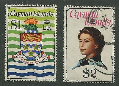 Cayman Islands #344, 345 Used Vf (1)