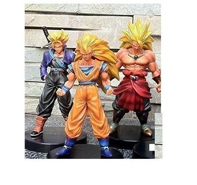 "Dragon Ball Z Super Saiyan 4pc 5"" Action Figures Set Goku Broly Vegeta Trunks"