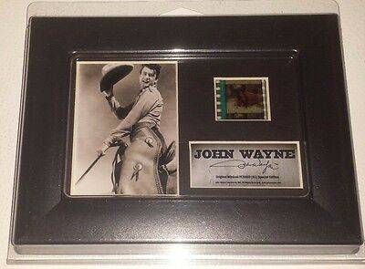 Film Cell Genuine 35mm Framed & Matted John Wayne Young Special Edition