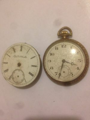 Pre-war (2) Pair Of Elgin 6 Standard Jewel Gold Filled Case Pocket Watch Watches