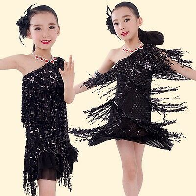 Clearance Charleston Flapper Jazz Costume Child Small Fringe Sequin Dress