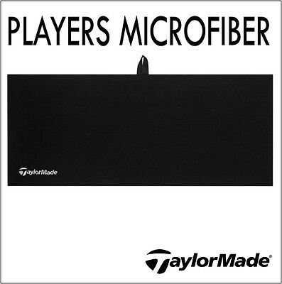 "2016 Taylormade Players Microfiber Towel 40x17"" Waffle Weave Large Black"