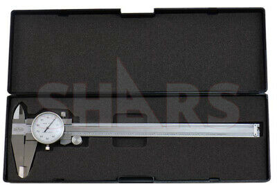 """SHARS 0- 8 x 0.1"""" 4 WAY DIAL CALIPER STAINLESS STEEL  SHOCK PROOF NEW"""