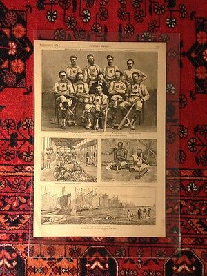 MAPLE LEAF Baseball Club of Guelph Ontario from Sept 12 1874 Harpers Weekly