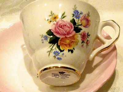 Beautiful Collectable  Vintage Bone China  Trio 'royal Stafford'   England