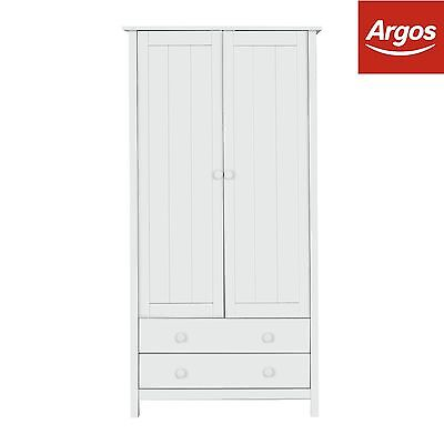 Kids Scandinavia Tall 2 Door 2 Drawer Wardrobe - White :The Official Argos Store