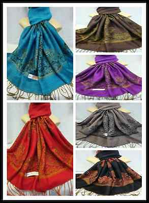 Wholesale 22Pcs $3.00 Each 2Ply Thick Reservible Pashmina Wrap Scarf