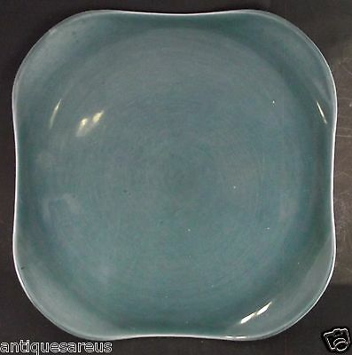 "Large 12 ""  Russel Wright Steubenville Teal Green Plate"
