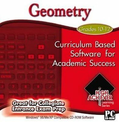 High Achiever Geometry  Great for Collegiate Entrance Exam Prep  Brand New