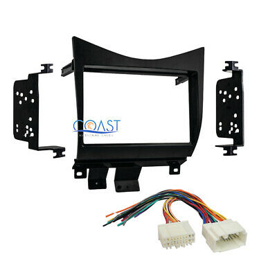 Double DIN Car Radio Stereo Dash Kit Wire Harness for 2003-2007 Honda Accord