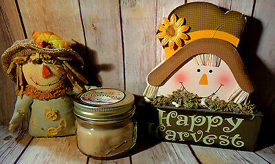 Thanksgiving Fall Table Decorations Folk Art Candle Country Fabric Scarecrow
