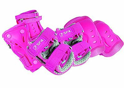 SFR Essential Knee' Wrist and Elbow Triple Pad Set - Pink Small