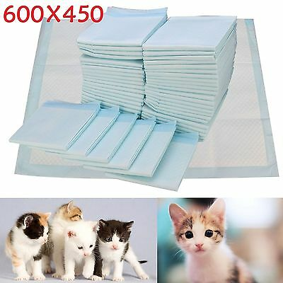 200 EXTRA LARGE PUPPY PET TRAINER TRAINING PAD TOILET PEE WEE MATS DOG CAT 60x45